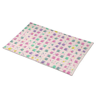 cute owls allover B Placemat