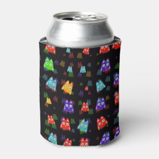 cute owls allover C Can Cooler