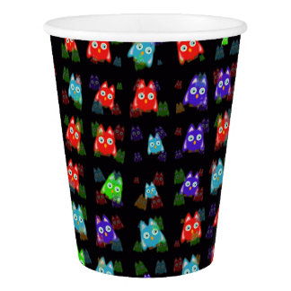 cute owls allover C Paper Cup