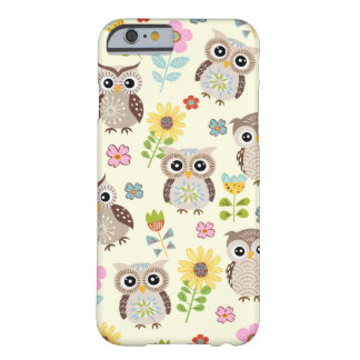 Cute Owls and Lovely Flowers iPhone 6 case Barely There iPhone 6 Case