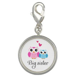 Cute owls big sister little brother cartoon bracelet