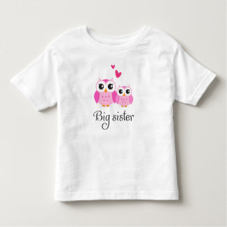 Cute owls big sister little sister cartoon toddler T-Shirt