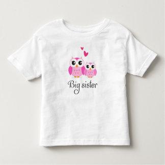 Cute owls big sister little sister cartoon t-shirt
