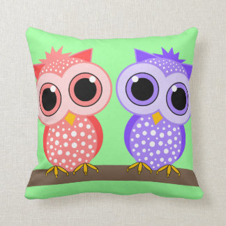 cute owls throw pillows