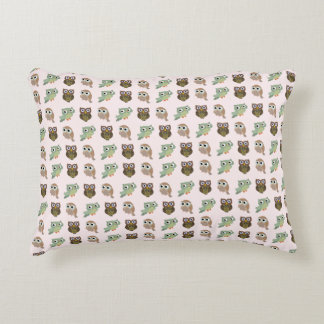 cute owls decorative cushion