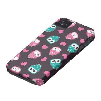 Cute Owls Hearts Blackberry Bold Case