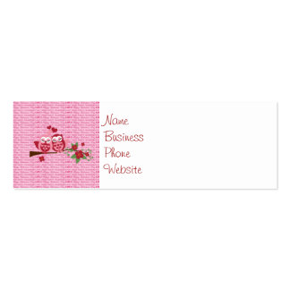 Cute Owls in Love Happy Valentine's Day Gifts Business Cards