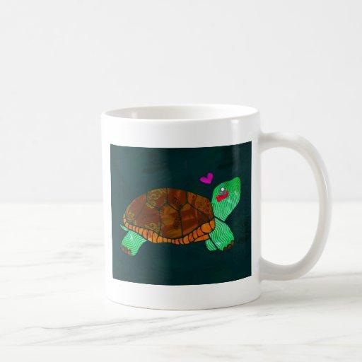 Cute Painted blocks Painted Turtle Coffee Mugs
