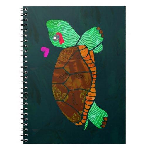 Cute Painted blocks Painted Turtle Notebooks