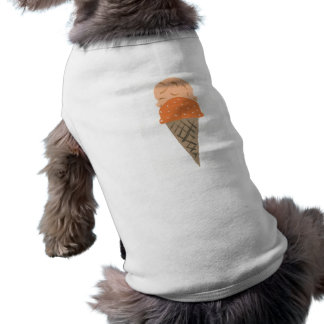 Cute Painted Orange Ice Cream Cone Puppy Shirt