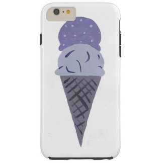Cute Painted Purple Ice Cream Cone Phone Case