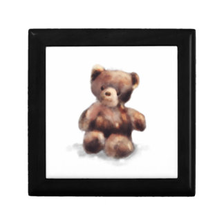 Cute Painted Teddy Bear Gift Box