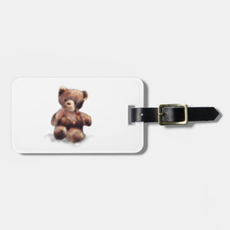 Cute Painted Teddy Bear Luggage Tag