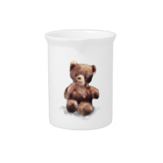 Cute Painted Teddy Bear Pitcher