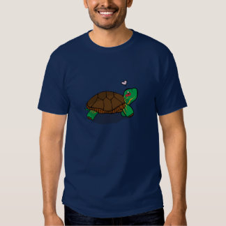 Cute Painted Turtle Red Tee Shirts