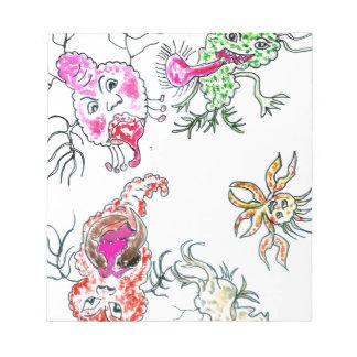 Cute Painted Viruses Notepad
