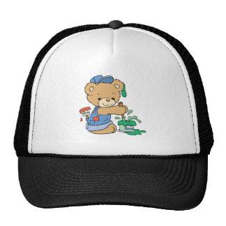 Cute Painter Bear Cap