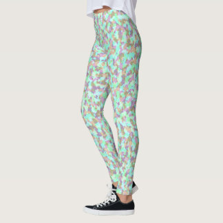 Cute Painterly Pastel Camouflage Leggings