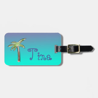 Cute Palm Tree Luggage Tag