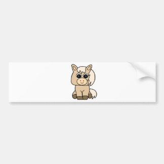 Cute Palomino Horse Bumper Sticker