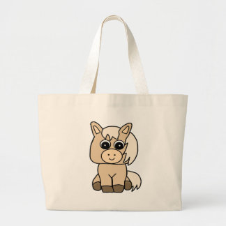 Cute Palomino Horse Large Tote Bag