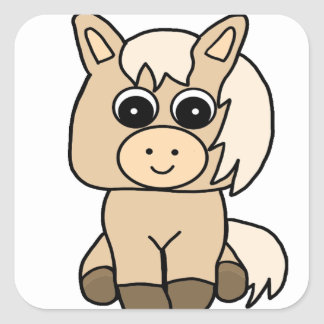 Cute Palomino Horse Square Sticker