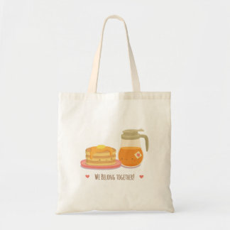 Cute Pancake and Maple Syrup in Love Tote