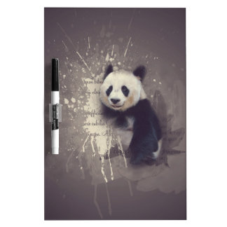 Cute Panda Abstract Dry-Erase Whiteboard