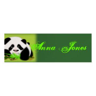Cute Panda Bear Animal Art Vine Leaf Peace Destiny Business Card