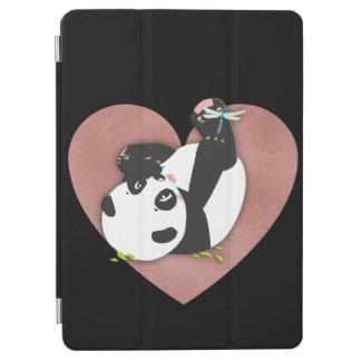 Cute Panda Bear Heart for Animal Lovers iPad Air Cover