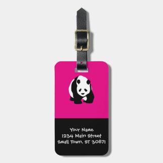 Cute Panda Bear Hot Pink Fuchsia Zoo Wildlife Gift Luggage Tag