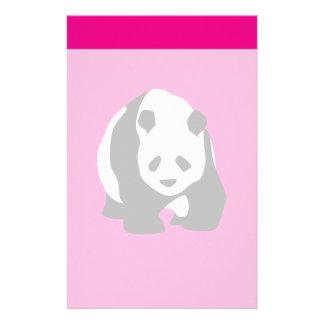 Cute Panda Bear Hot Pink Fuchsia Zoo Wildlife Gift Customized Stationery