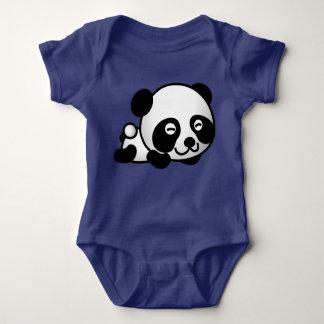 Cute Panda Bear Lying Down Smiling Baby Bodysuit