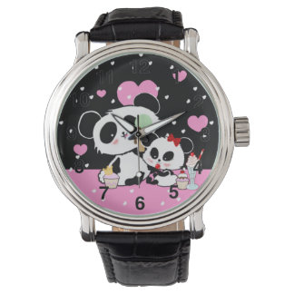 Cute Panda bear picnic kawaii Watch