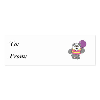 Cute Panda Bear with Balloon Business Card Templates