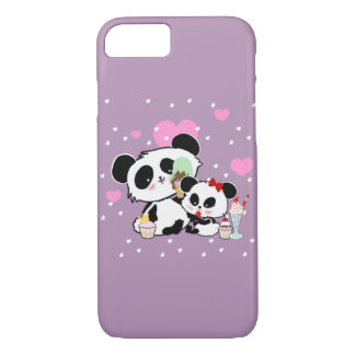 Cute Panda Bears Funny Personalised iPhone 8/7 Case
