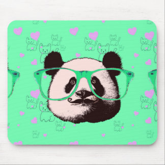 Cute Panda Bears Girly Gifts Kawaii Customizable Mouse Pad