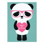Cute Panda Birthday 14 Cm X 19 Cm Invitation Card