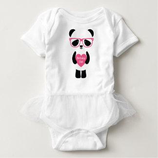 Cute Panda Birthday Baby Bodysuit