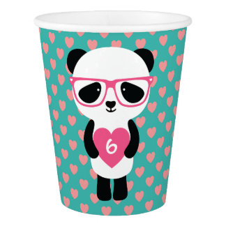 Cute Panda Birthday Paper Cup