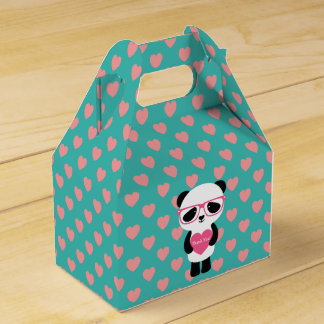 Cute Panda Birthday Party Favour Boxes