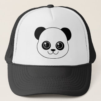 Cute Panda Black Licorice Trucker Hat