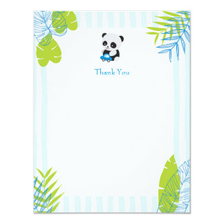 Cute Panda Boy Baby Shower Thank You Cards