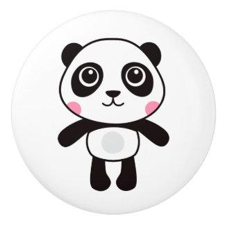 Cute panda ceramic knob