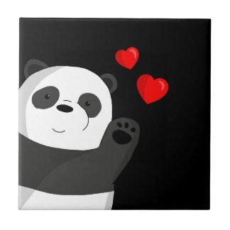 Cute panda ceramic tile