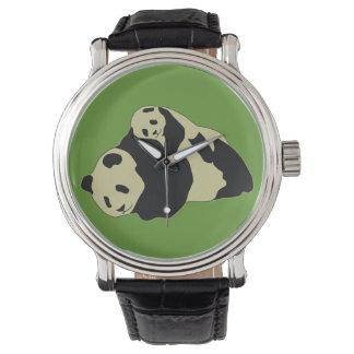 Cute Panda Cuddling With Baby Cub Watch