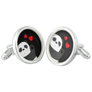 Cute panda cufflinks