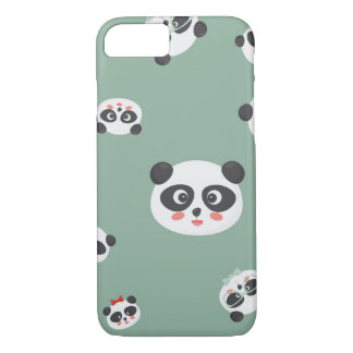 Cute Panda faces iPhone cover