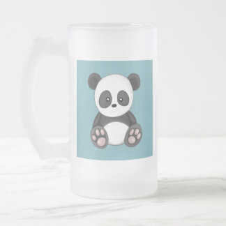 Cute Panda Frosted Glass Beer Mug