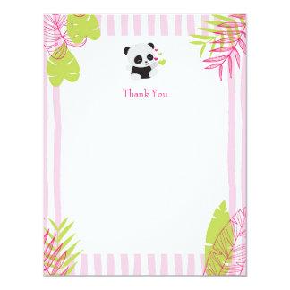 Cute Panda Girl Baby Shower Thank You Cards
